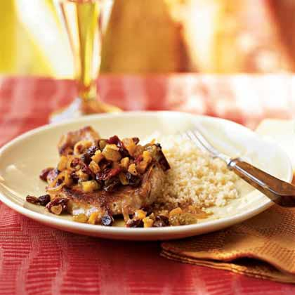 Pan-Seared Pork Chops with Dried FruitRecipe