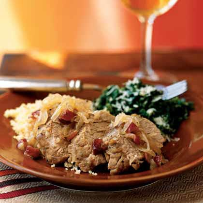 Pork Tenderloin with Onions and Dried Cranberries
