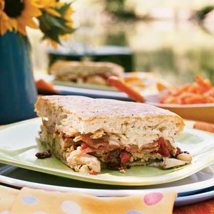 <p>Antipasto Chicken Sandwich</p>