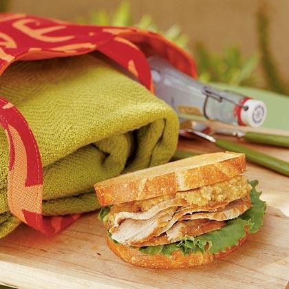 Cider-glazed Pork Loin Sandwich with Walnut Pesto