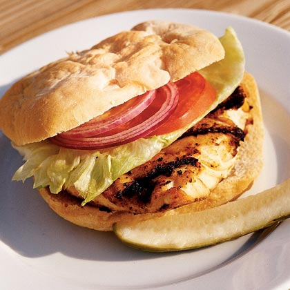 Grilled Grouper Sandwich with Chipotle Tartar Sauce