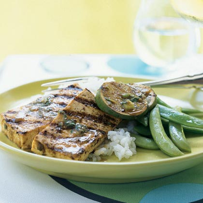Ginger-Sesame Grilled Tofu Steaks