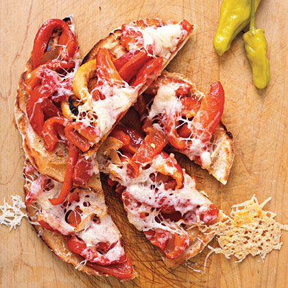 Provolone and Roasted Pepper Crisps Recipe