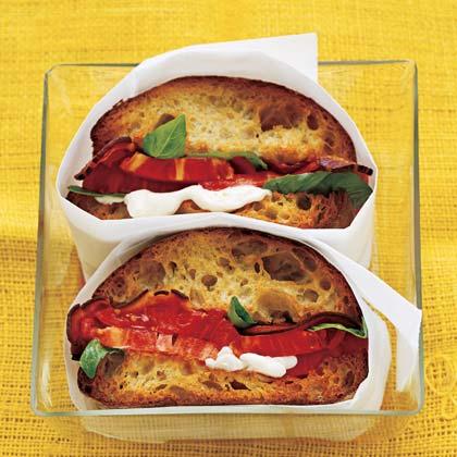 BBT (Bacon Basil Tomato) Sandwich