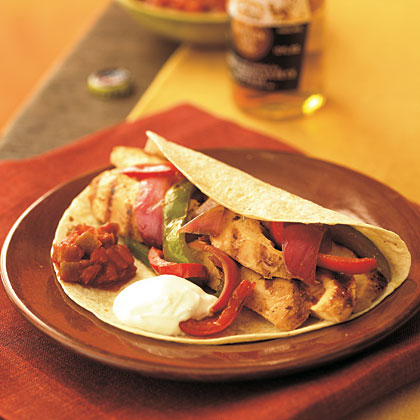 Sizzling Chicken Fajitas Recipe | MyRecipes