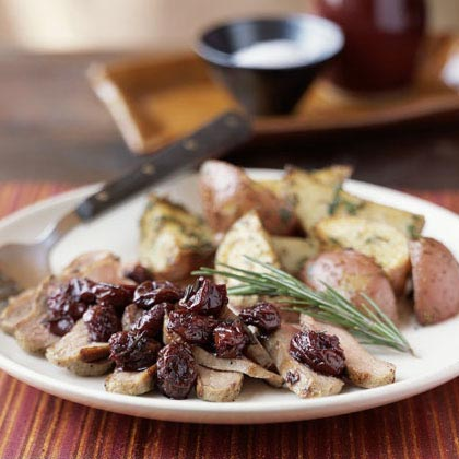 Duck with Dried Cherries and Rosemary