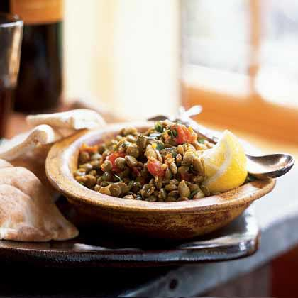 Lentils RecipeEarthy, nutty-tasting lentils are not only high in potassium, but also provide fiber and protein. The mix of spices such as ginger, cumin, turmeric, paprika, cilantro, and parsley give this lentil dish an exotic Middle Eastern flavor.