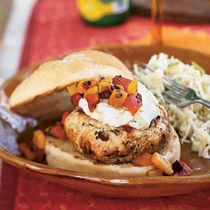 Turkey Burgers with Goat CheeseRecipe