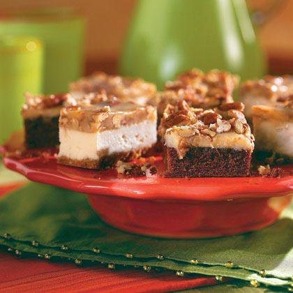 Caramel-Pecan Cheesecake BarsRecipe