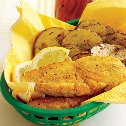Oven-Fried Fish and ChipsRecipe