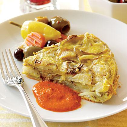 """Spanish Potato and Egg """"Tortilla""""Recipe"""