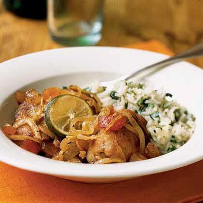 <p>Margarita-Braised Chicken Thighs</p>