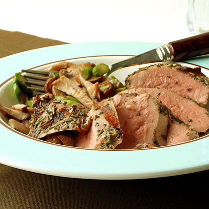 Grilled Duck with Warm Mushroom Salad and Truffle Vinaigrette