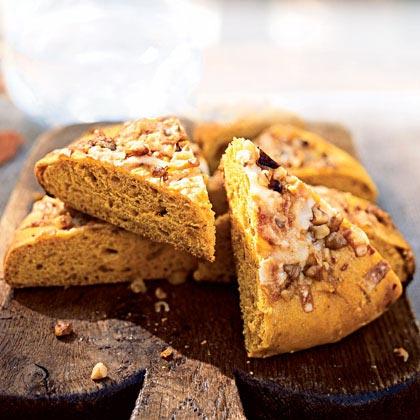 Pumpkin-Walnut Focaccia with Gruyère Recipe