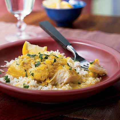 Halibut with Cumin-Pepper Curry