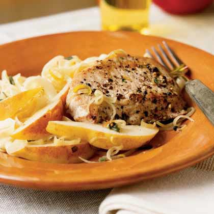 <p>Peppered Pork and Pears</p>