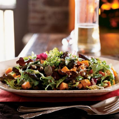 Roasted Squash Salad with Bacon and Pumpkin SeedsRecipe