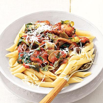 Pasta with Tomato-Mushroom Sauce Recipe