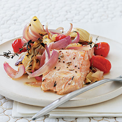 Roasted Fennel and Red Onion Salmon Recipe