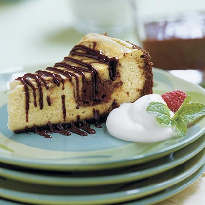 Chocolate-Coffee Cheesecake With Mocha SauceRecipe
