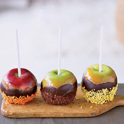 Chocolate Caramel Apples with SprinklesRecipe