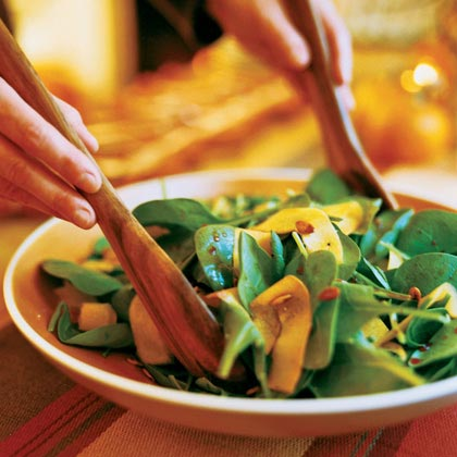 Spinach and Pumpkin Salad