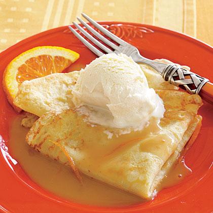 Orange-Caramel Crepes