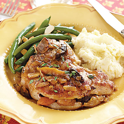 Pork Chops with Dried Fruit Stuffing