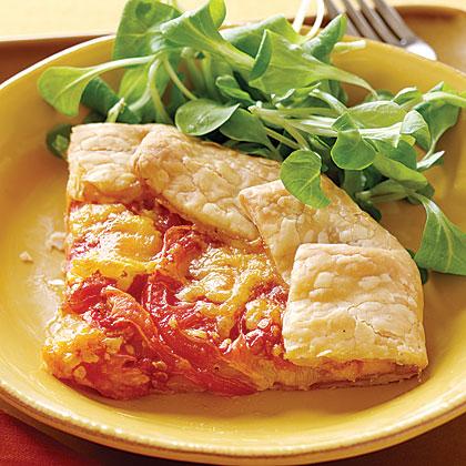 Tomato and Cheddar Tarts Recipe