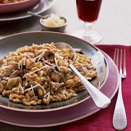 Mushroom Orzo Risotto