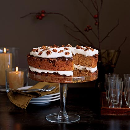 Praline Pumpkin Torte Recipe