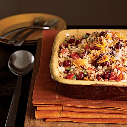 Basmati Rice Dressing with Dried Fruit, Toasted Almonds, and Coconut