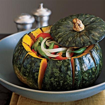 Roasted Kabocha Squash Bowl with Autumn Vegetables