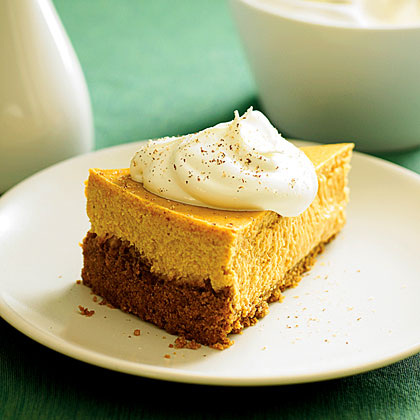 Roasted Sweet-Potato Cheesecake with Maple Cream RecipeRoasted sweet potato offers a perfect earthy sweetness to show off the flavor combo of cinnamon and nutmeg in this creamy cheesecake.