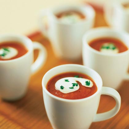 Roasted Red Pepper-Tomato Soup Recipe