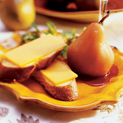 Poached Pears with CheddarRecipe
