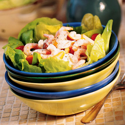 Butter Lettuce Shrimp Salad with Pears and Blue Cheese