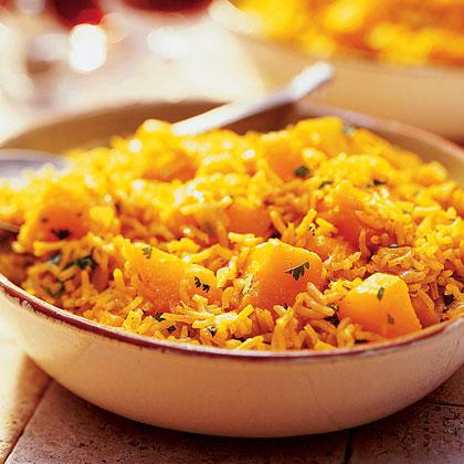 Curried Squash and Basmati Rice Recipe