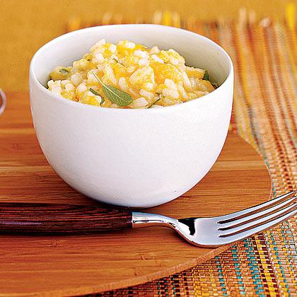 Squash and Roasted-Garlic RisottoRecipe