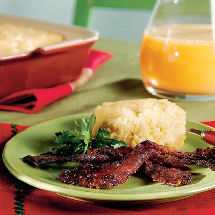 Cheddar Cheese Grits Casserole RecipeIn the South, cheese grits are so popular that it might be considered bad manners not to serve them at brunch. This is the perfect side dish for any brunch entrée.