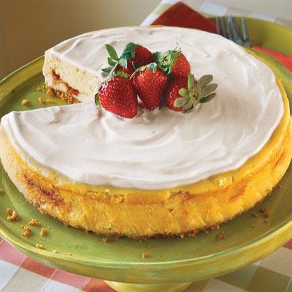Irish Strawberry-and-Cream Cheesecake Recipe