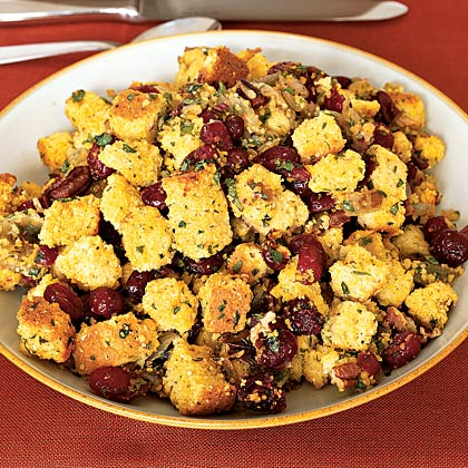 Corn Bread Stuffing With Cranberries