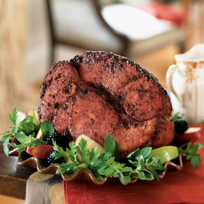 Blackberry-Mustard Glazed Ham