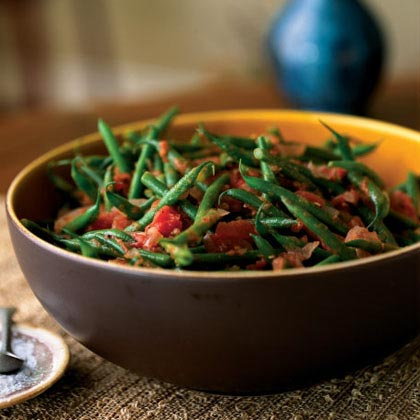 Green Beans with Roasted Tomatoes and Cumin Recipe