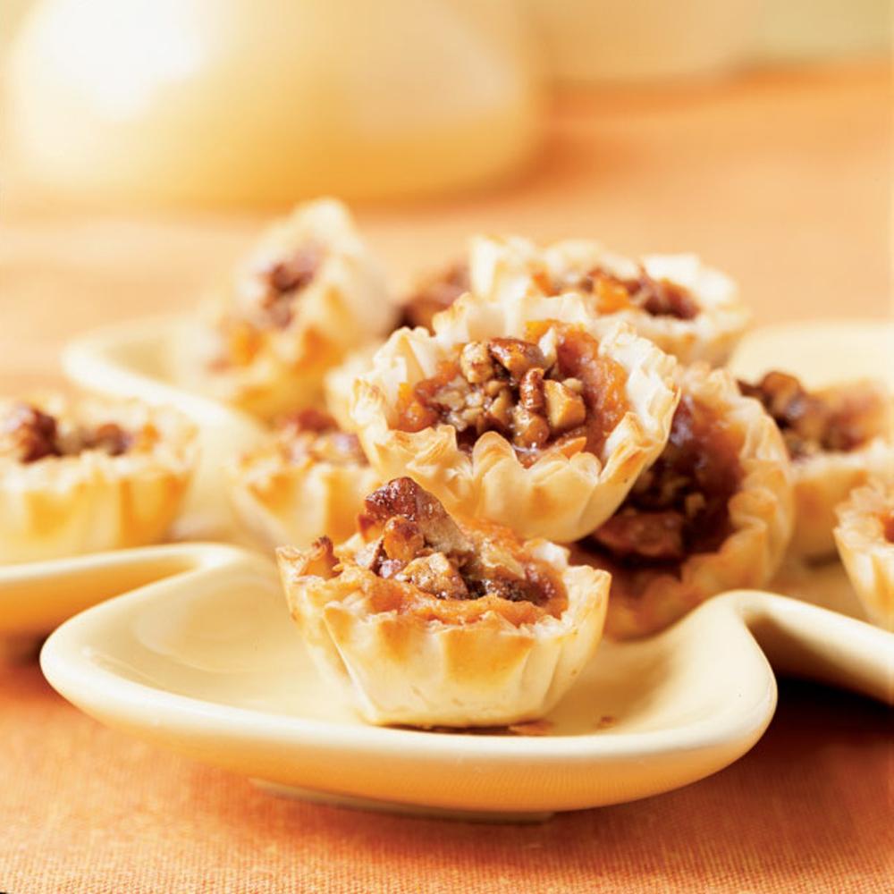 Harvest Sweet Potato Pecan Pie Tarts