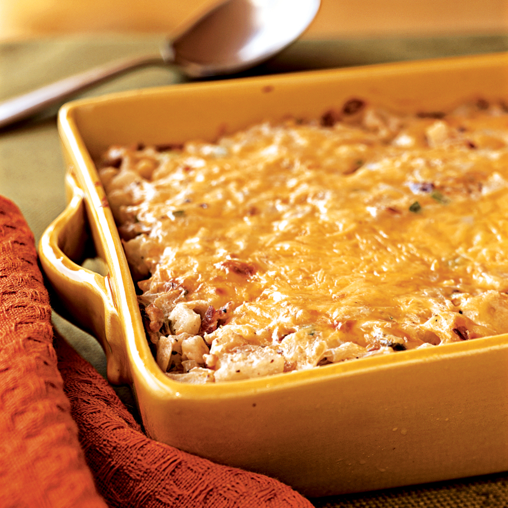 Hash Brown Casserole With Bacon, Onions, & Cheese Recipe