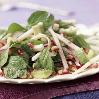 Mexican Salad with Pomegranate-Lime Dressing