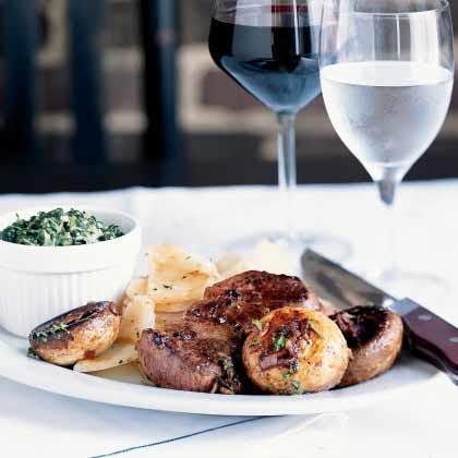 Pan-Seared Steak with MushroomsRecipe
