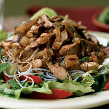 Shredded Five-Spice Turkey with Herb and Noodle SaladRecipe