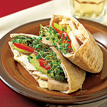 Turkey and Hummus on Pita Recipe